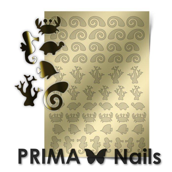 PrimaNails, Металлизированные наклейки для дизайна SEA-005, ЗолотоМеталлизированные наклейки<br>Металлизированные наклейки PRIMA NAILS - модный тренд в дизайне ногтей, который актуален для любого сезона!<br>