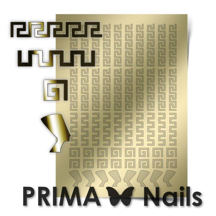 PrimaNails, Металлизированные наклейки для дизайна OR-001, ЗолотоМеталлизированные наклейки<br>Металлизированные наклейки PRIMA NAILS - модный тренд в дизайне ногтей, который актуален для любого сезона!<br>