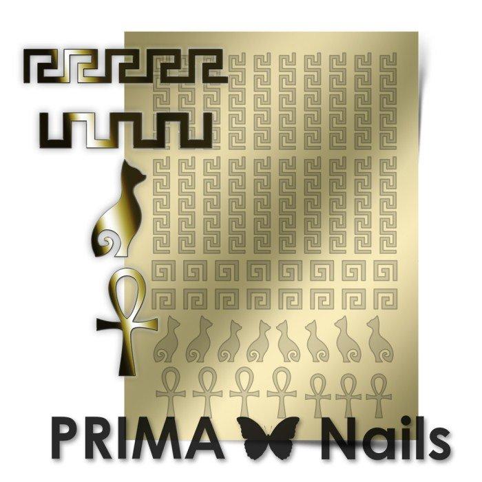 PrimaNails, Металлизированные наклейки для дизайна OR-002, Золото