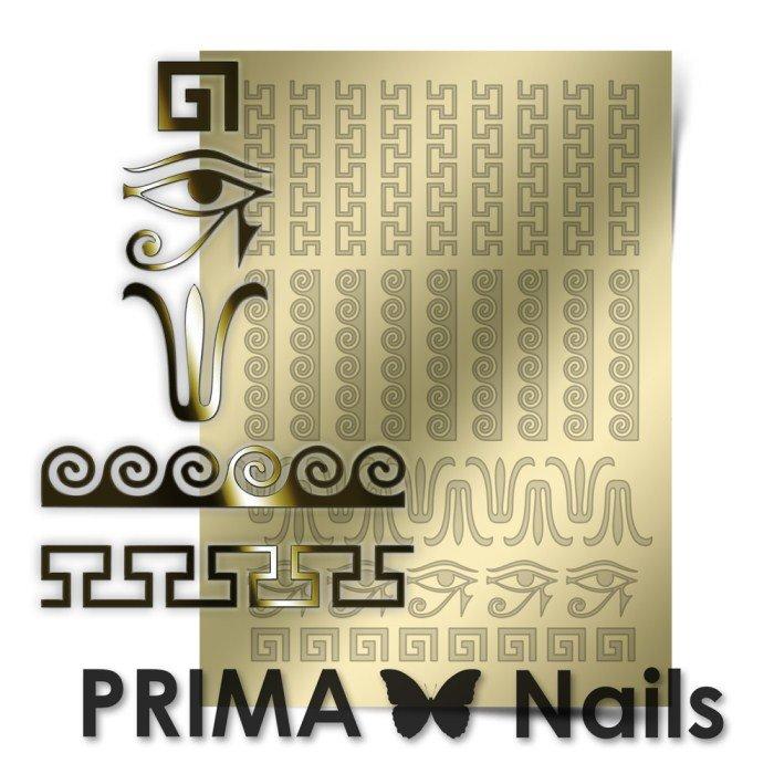PrimaNails, Металлизированные наклейки для дизайна OR-003, ЗолотоМеталлизированные наклейки<br>Металлизированные наклейки PRIMA NAILS - модный тренд в дизайне ногтей, который актуален для любого сезона!<br>