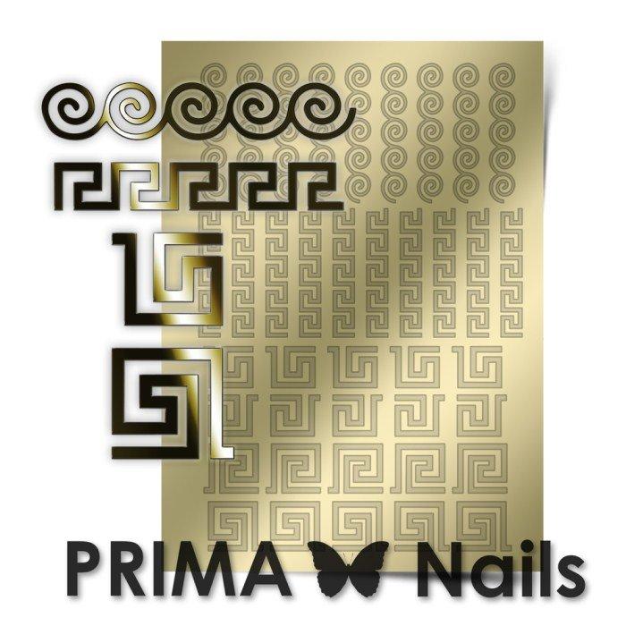 PrimaNails, Металлизированные наклейки для дизайна OR-004, ЗолотоМеталлизированные наклейки<br>Металлизированные наклейки PRIMA NAILS - модный тренд в дизайне ногтей, который актуален для любого сезона!<br>