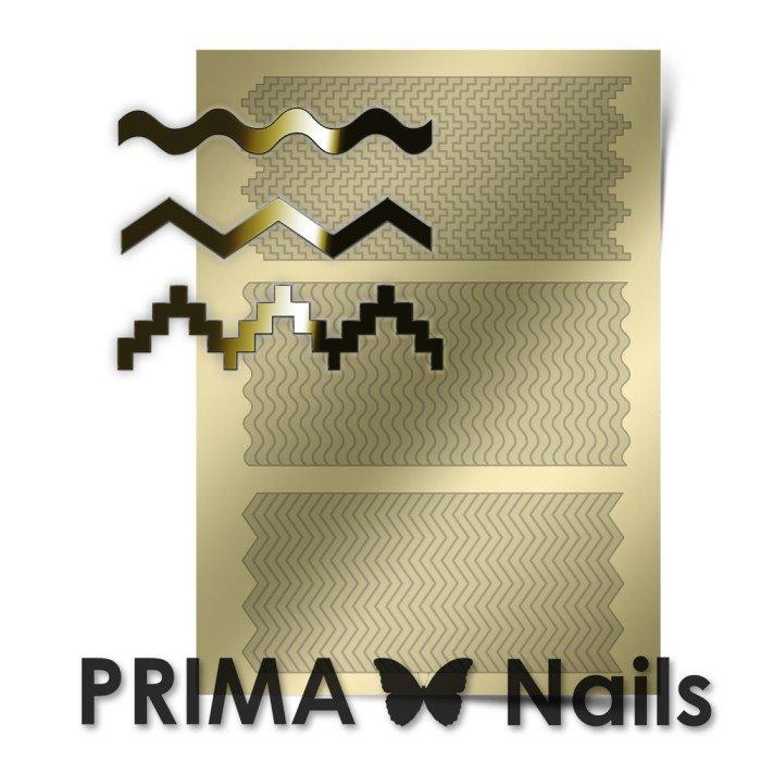 PrimaNails, Металлизированные наклейки для дизайна OR-005, ЗолотоМеталлизированные наклейки<br>Металлизированные наклейки PRIMA NAILS - модный тренд в дизайне ногтей, который актуален для любого сезона!<br>