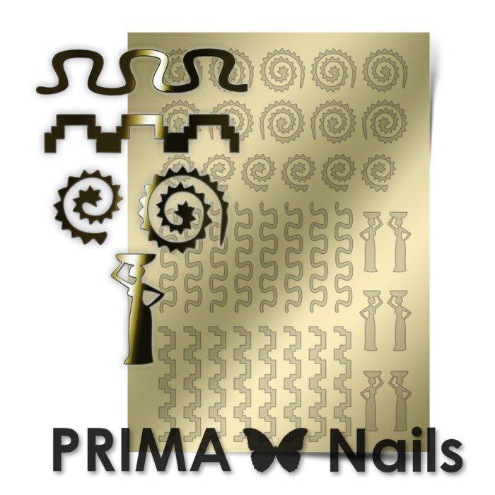 PrimaNails, Металлизированные наклейки для дизайна OR-006, ЗолотоМеталлизированные наклейки<br>Металлизированные наклейки PRIMA NAILS - модный тренд в дизайне ногтей, который актуален для любого сезона!<br>