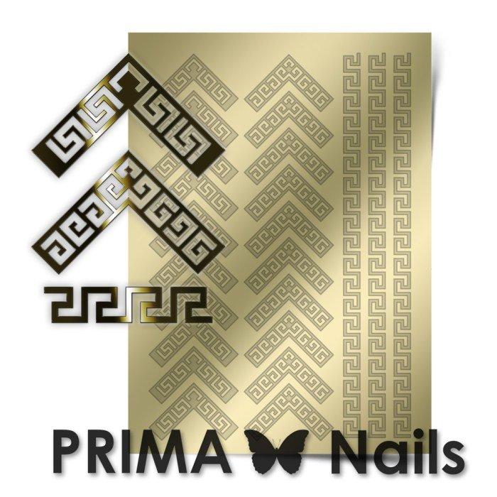 PrimaNails, Металлизированные наклейки для дизайна OR-007, Золото