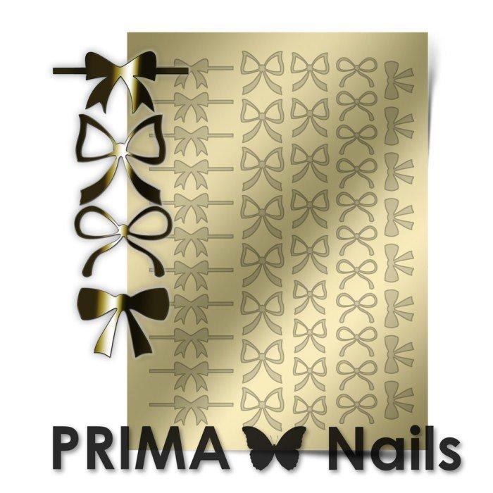 PrimaNails, Металлизированные наклейки для дизайна PR-001, ЗолотоМеталлизированные наклейки<br>Металлизированные наклейки PRIMA NAILS - модный тренд в дизайне ногтей, который актуален для любого сезона!<br>