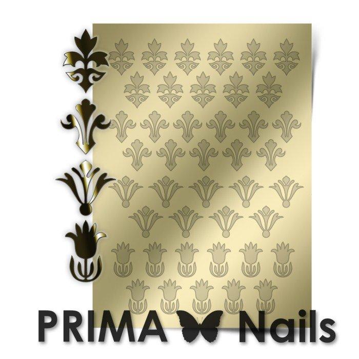 PrimaNails, Металлизированные наклейки для дизайна PR-004, ЗолотоМеталлизированные наклейки<br>Металлизированные наклейки PRIMA NAILS - модный тренд в дизайне ногтей, который актуален для любого сезона!<br>