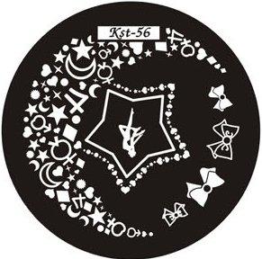 El Corazon, Диск для стемпинга №kst-56Диски для стемпинга El Corazon<br>Печатная формаkst-56<br>