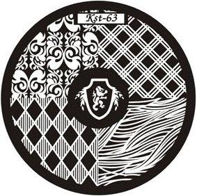 El Corazon, Диск для стемпинга №kst-63Диски для стемпинга El Corazon<br>Печатная формаkst-63<br>