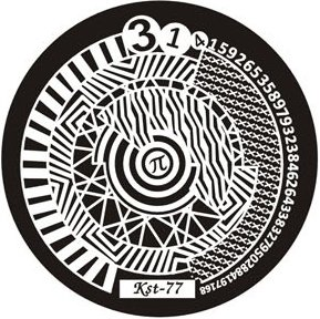 El Corazon, Диск для стемпинга №kst-77Диски для стемпинга El Corazon<br>Печатная формаkst-77<br>