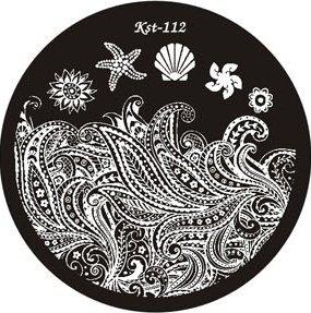 El Corazon, Диск для стемпинга №kst-112Диски для стемпинга El Corazon<br>Печатная формаkst-112<br>