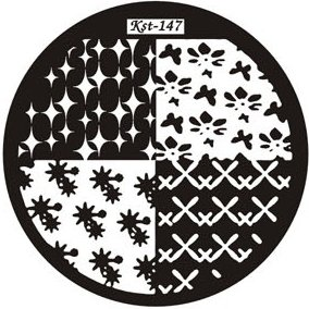 El Corazon, Диск для стемпинга №kst-147Диски для стемпинга El Corazon<br>Печатная формаkst-147<br>