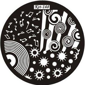 El Corazon, Диск для стемпинга №kst-148Диски для стемпинга El Corazon<br>Печатная формаkst-148<br>