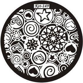 El Corazon, Диск для стемпинга №kst-149Диски для стемпинга El Corazon<br>Печатная формаkst-149<br>