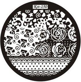 El Corazon, Диск для стемпинга №kst-150Диски для стемпинга El Corazon<br>Печатная формаkst-150<br>