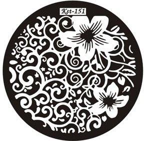 El Corazon, Диск для стемпинга №kst-151Диски для стемпинга El Corazon<br>Печатная формаkst-151<br>