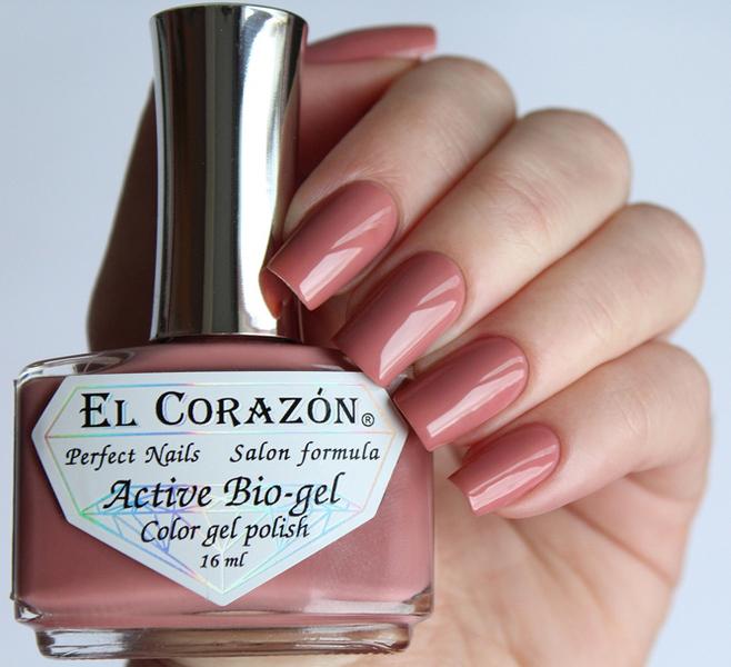 El Corazon, Active Bio-gel Color gel polish Cream №423/313Лечебный биогель El Corazon<br>Био-гель бежево-розовый, без блесток и перламутра, плотный. Объем 16 ml.<br>