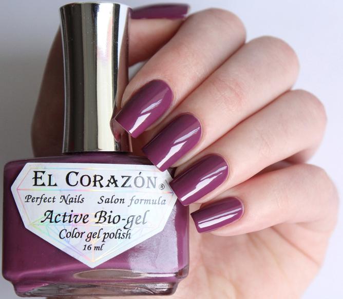 El Corazon, Active Bio-gel Color gel polish Cream №423-314Лечебный биогель El Corazon<br>Био-гелькремово-сиреневый, без блесток и перламутра, плотный. Объем 16 ml.<br>