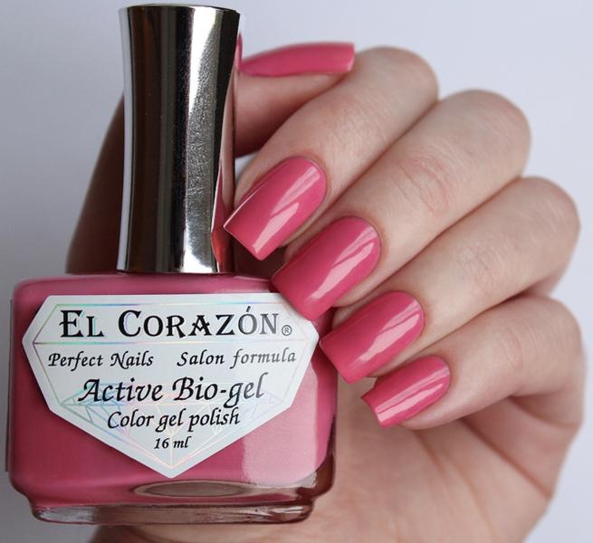 El Corazon, Active Bio-gel Color gel polish Cream №423-319Лечебный биогель El Corazon<br>Био-гельприпыленно розовый, без блесток и перламутра, плотный. Объем 16 ml.<br>
