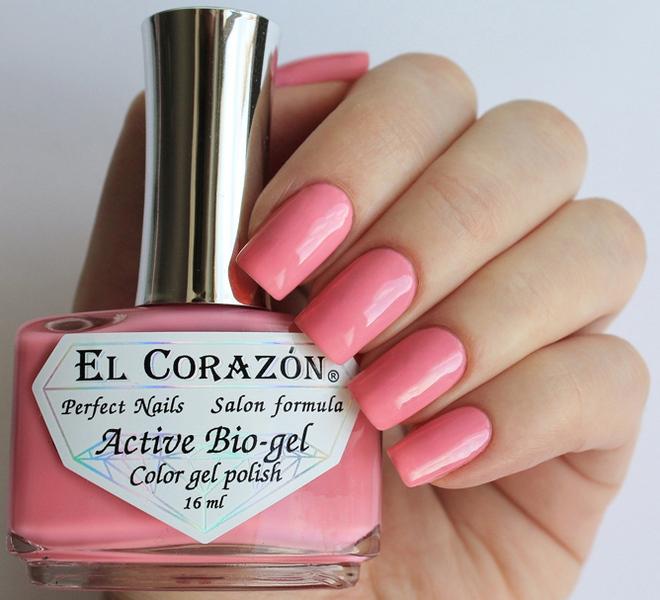 El Corazon, Active Bio-gel Color gel polish Cream №423-320Лечебный биогель El Corazon<br>Био-гельнежнорозовый, без блесток и перламутра, плотный. Объем 16 ml.<br>