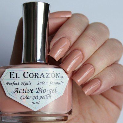 El Corazon, Active Bio-gel Color gel polish Cream №423/321Лечебный биогель El Corazon<br>Био-гельбежево-персиковый, без блесток и перламутра, плотный. Объем 16 ml.<br>