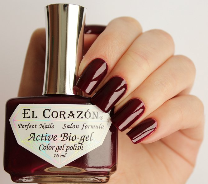 El Corazon, Active Bio-gel Color gel polish Cream №423/325Лечебный биогель El Corazon<br>Био-гельтемного красно-коричневого цвета, без блесток и перламутра, плотный. Объем 16 ml.<br>