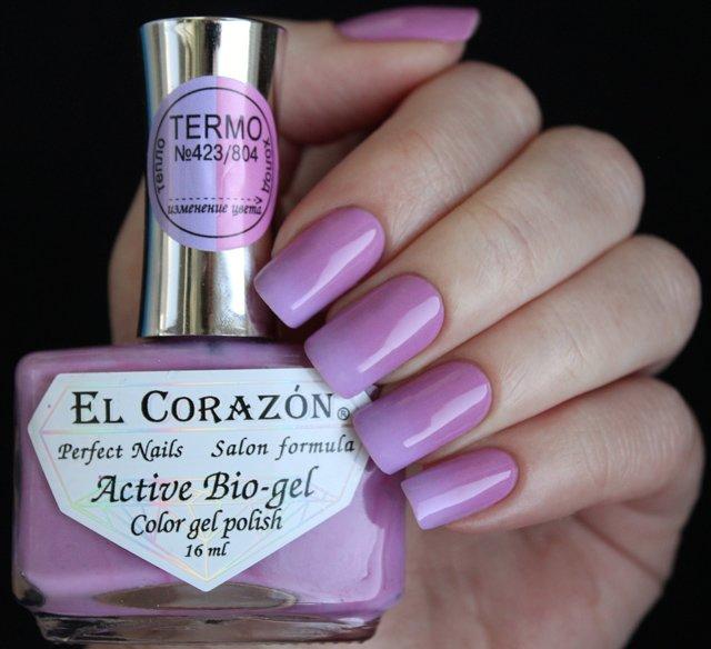 El Corazon, Active Bio-gel Color gel polish Termo №423/804