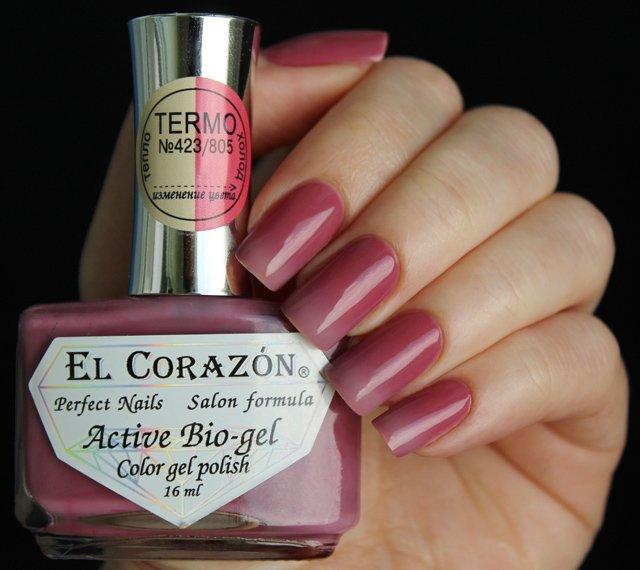 El Corazon, Active Bio-gel Color gel polish Termo №423/805
