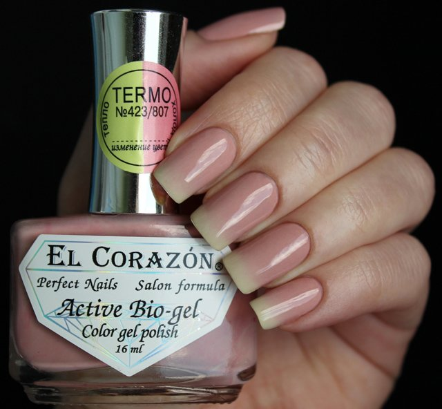 El Corazon, Active Bio-gel Color gel polish Termo №423/807