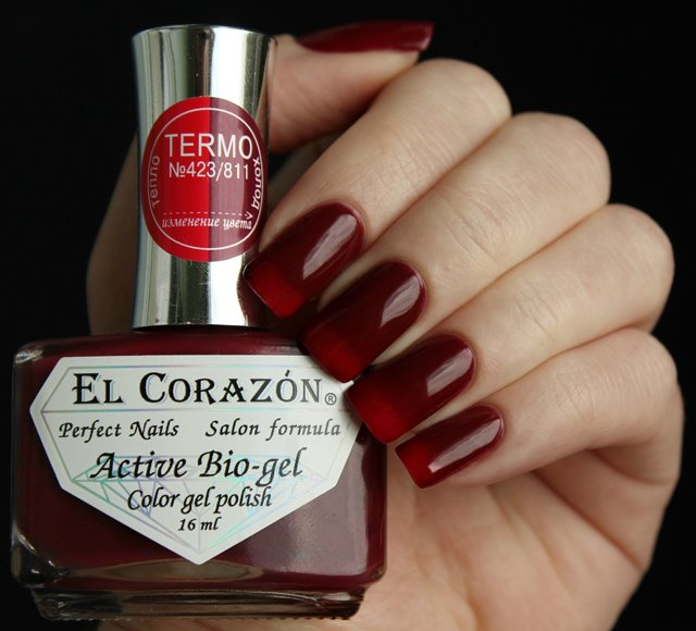 El Corazon, Active Bio-gel Color gel polish Termo №423/811