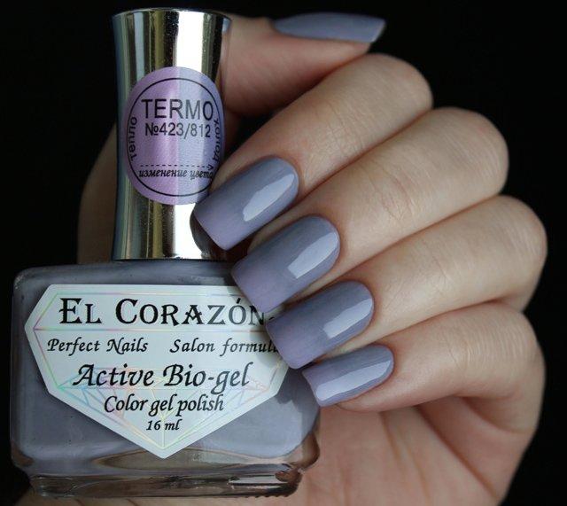 El Corazon, Active Bio-gel Color gel polish Termo №423/812