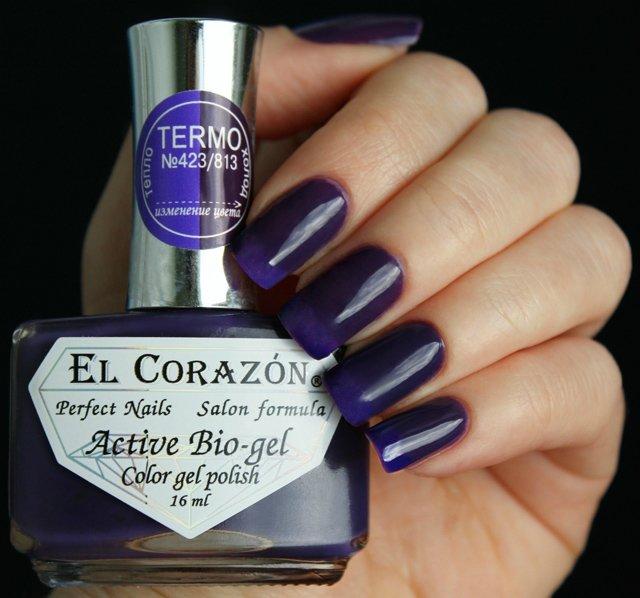 El Corazon, Active Bio-gel Color gel polish Termo №423/813