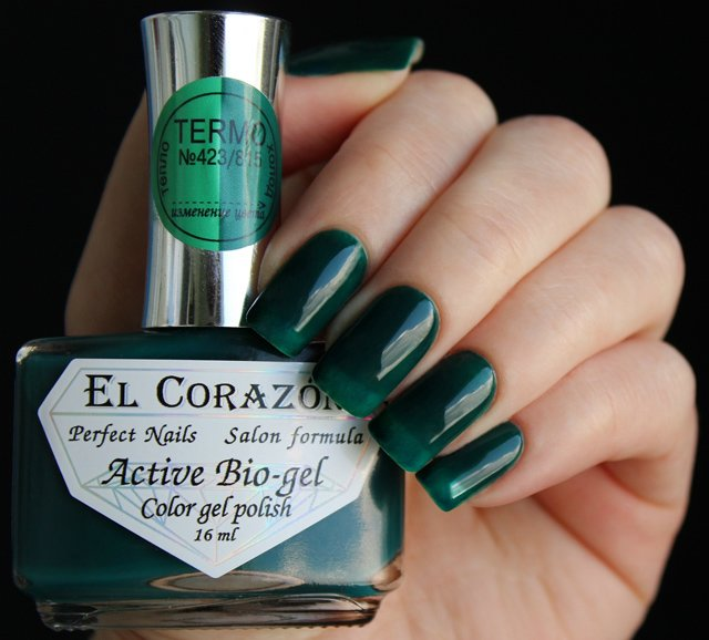 El Corazon, Active Bio-gel Color gel polish Termo №423/815
