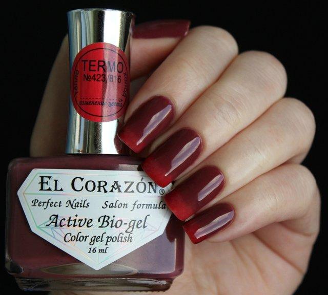 El Corazon, Active Bio-gel Color gel polish Termo №423/816