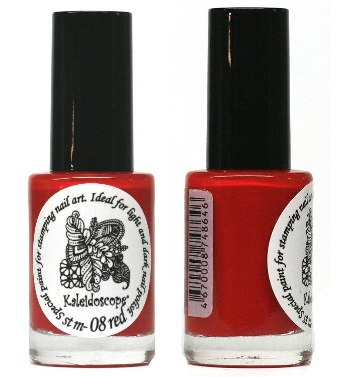 El Corazon, Лак для стемпинга St-08 (red) 15млЛаки для стемпинга El Corazon<br>Плотный лак для стемпинга сильнопигментированный, красный<br>