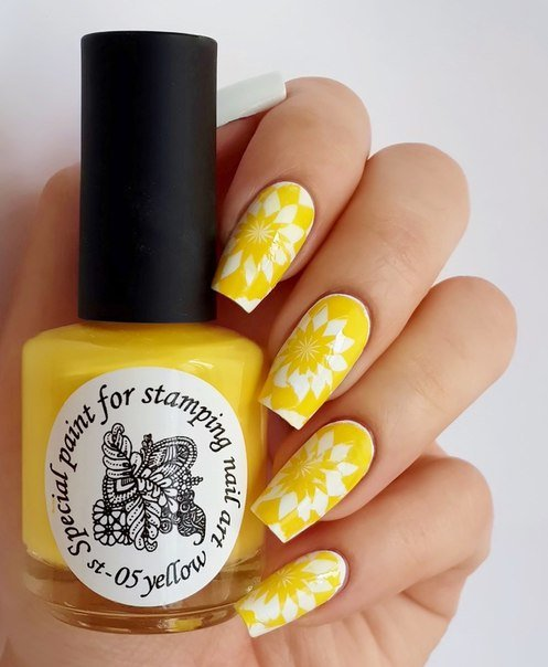 El Corazon, Краска для стемпинга - stm-05 Yellow (желтый)Лаки для стемпинга El Corazon<br>Плотный лак для стемпинга сильнопигментированный, желтый<br>