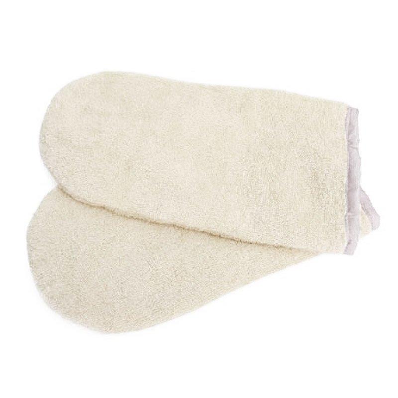 Igrobeauty, Махровые варежки для парафинотерапии (слоновая кость, 1 пара)Сопутствующие товары<br>Махровые утеплители для рук. Применяются во время процедуры парафинотерапии.<br>