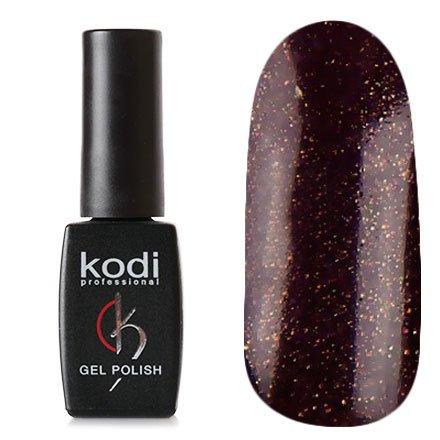Kodi, Гель-лак № 123 (8ml)Kodi Professional <br>Гель-лак темный баклажан с перламутром и микроблестками, плотный,8мл.<br>