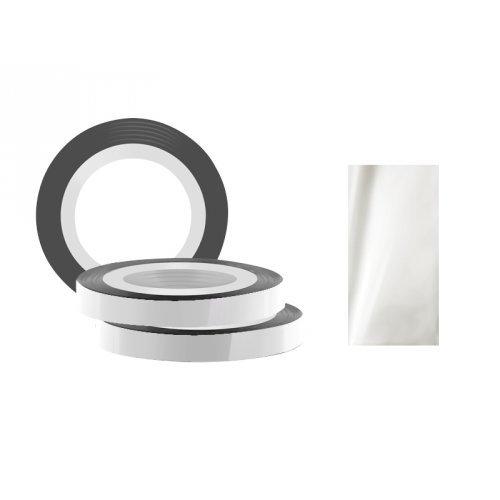 Jessnail, Фольга для дизайна в рулонах 20м*8мм №02, серебро/SilverСамоклеющаяся лента для дизайна ногтей<br>Фольга для дизайна в рулонах20м*8мм №02, серебряного цвета.<br>