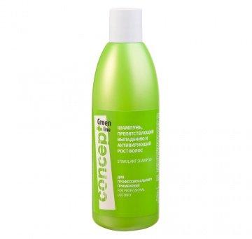 Concept, Шампунь Green line, препятс. выпадению и активир. рост волосШампуни<br>Шампунь, препятствующий выпадению и активирующий рост волос, 300 мл<br>