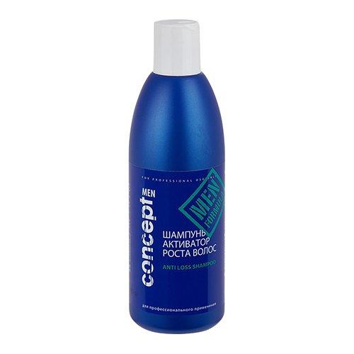 Concept, Шампунь MEN, активатор роста волос, 300 млШампуни<br>Шампунь способствует росту волос, препятствует их выпадению, 300 мл<br>