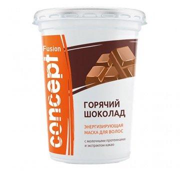 Concept, Маска FUSION, Горячий шоколад, 450 млМаски для волос<br>Маска энергизирующая «горячий шоколад» на основе молочных протеинов с экстрактом какао<br>