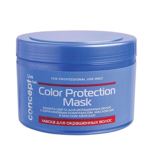 Concept, Маска Live hair, д/окрашенных волос, 500 млМаски для волос<br>Маска предназначена для защиты цвета окрашенных волос.<br>