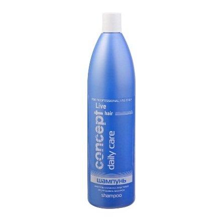 Concept, Шампунь Live hair, для всех типов волос, 1000 млШампуни<br>Универсальный профессиональный шампунь подходит для ежедневного мытья волос любого типа.<br>