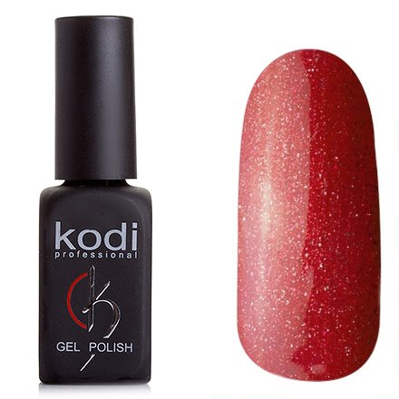 Kodi, Гель-лак № 79 (8ml)Kodi Professional <br>Гель-лак красный с золотистыми блестками, плотный<br>