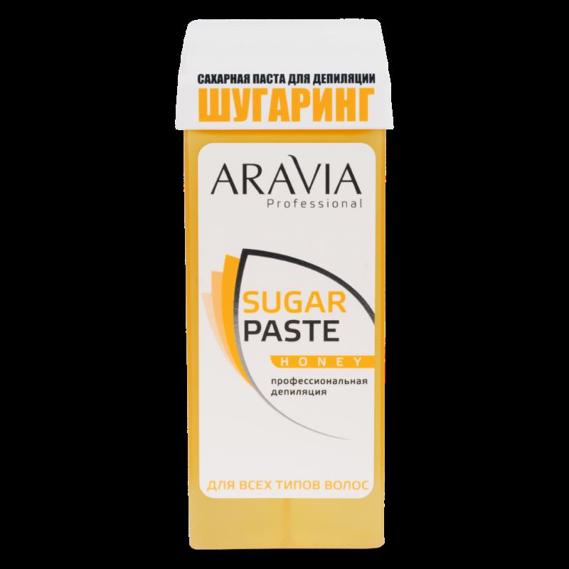 Aravia, Паста для шугаринга в картридже (Медовая, очень мягкая)Сахарная паста (бандажная мягкая)<br>Сахарная паста для шугаринга в картридже Медовая, очень мягкой консистенции<br>