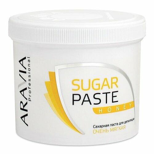Aravia, Паста д/шугаринга в банке Медовая, очень мягкаяСахарная паста (бандажная мягкая)<br>Сахарная паста для шугаринга в банке Медовая, очень мягкая<br>