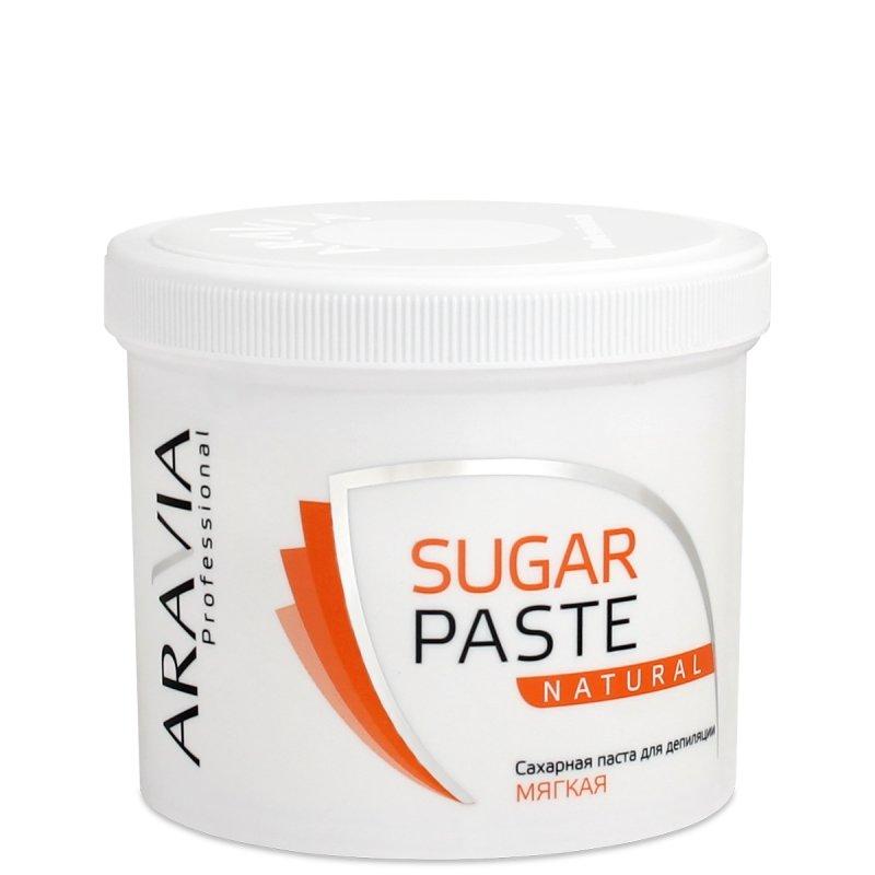 Aravia, Паста для шугаринга в банке (Натуральная, мягкая)Сахарная паста (мануальная мягкая)<br>Сахарная паста для шугаринга в банке Натуральная, мягкая<br>