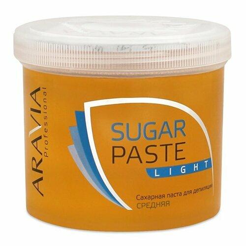 Aravia, Паста для шугаринга в банке (Легкая, средней плотности)Сахарная паста (мануальная средняя)<br>Сахарная паста для шугаринга в банке Легкая, средней плотности<br>