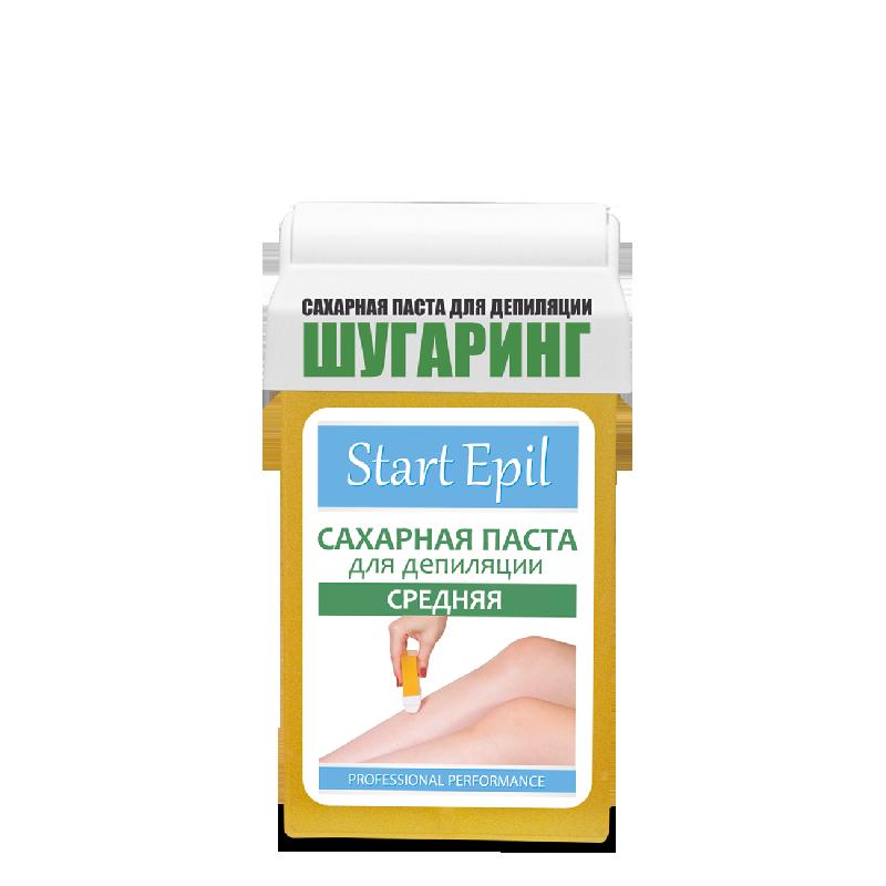 Start Epil, Сахарная паста для шугаринга в картридже (Средняя, 100 г.)Сахарная паста (бандажная средняя)<br>Сахарная паста для шугаринга в картридже Средняя, для бандажной эпиляции<br>