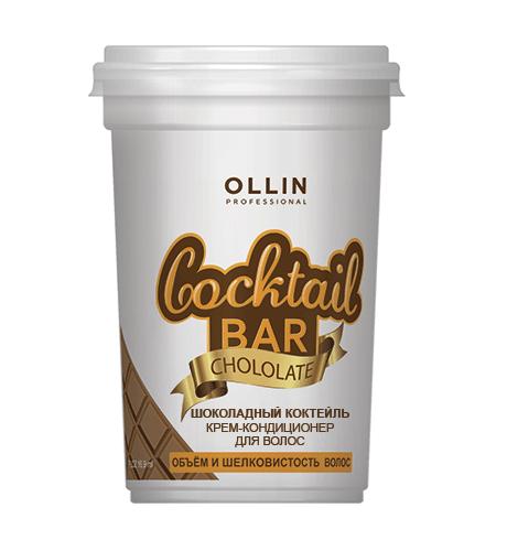 Ollin, Крем-кондиционер Cocktail BAR для волос Шоколадный коктейль, 500 млБальзамы и Кондиционеры<br>Крем-кондиционер Шоколадный коктейль придает шелковистость и объем волосам<br>